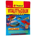 Tropical Vitality&Color spalvas ryškinantis pašaras žuvims 12g