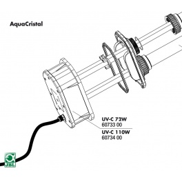 JBL UVC 72w, 110w electrical unit