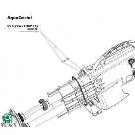 JBL UVC 72W/110W varžtai + veržlės (18vnt.)