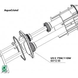 JBL UV-C 72W/110W plokštė kvarciniam stiklui