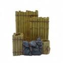 Akvariumo Dekoracija bambukinė sienelė