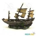 Laivas dekoracija 24x8x18cm