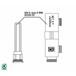 JBL AquaCristal II 9W, UV-C filtro korpusas su stikliniu indėklu kvarcinei lempai