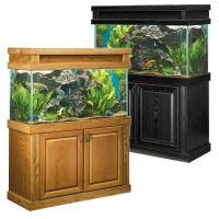 Akvariumai ir spintelės